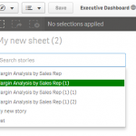 Qlik sense extension Story Search