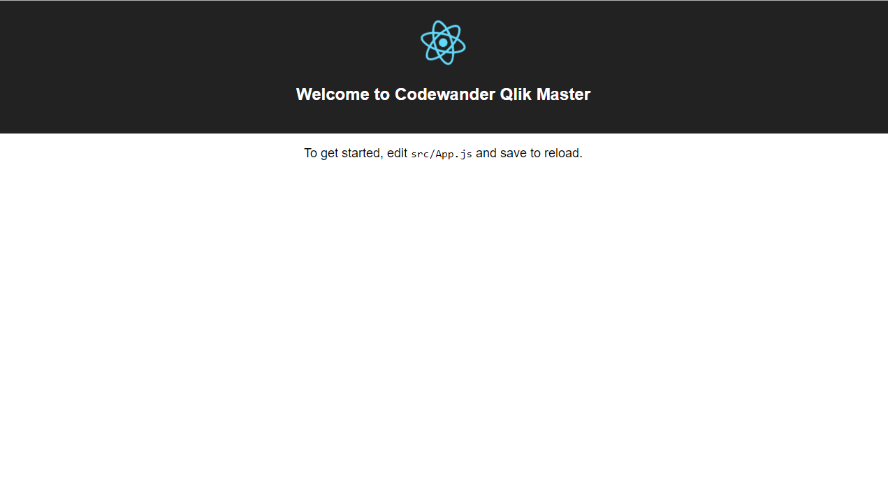 06.codewander-create-react-app-qlik-master-launch-screen-modified