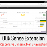 Qlik sense extension - Responsive Navigation Menu