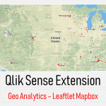Qlik sense Extension Geo Analytics Leaflet Mapbox