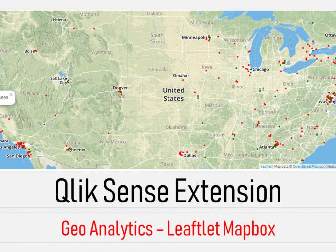 Qlik sense extension -Geo Maps - Leaflet Mapbox