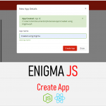 Qlik sense enigma js example create app part 1