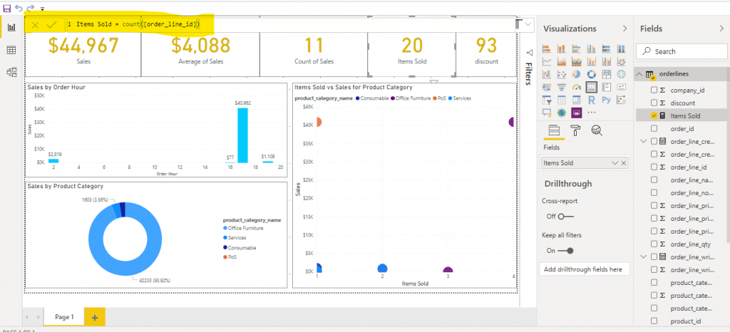 Power BI vs Qlik sense: Power BI Create New Measure - Codewander