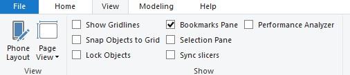 Codewander-PowerBI Bookmark Pane Enabling